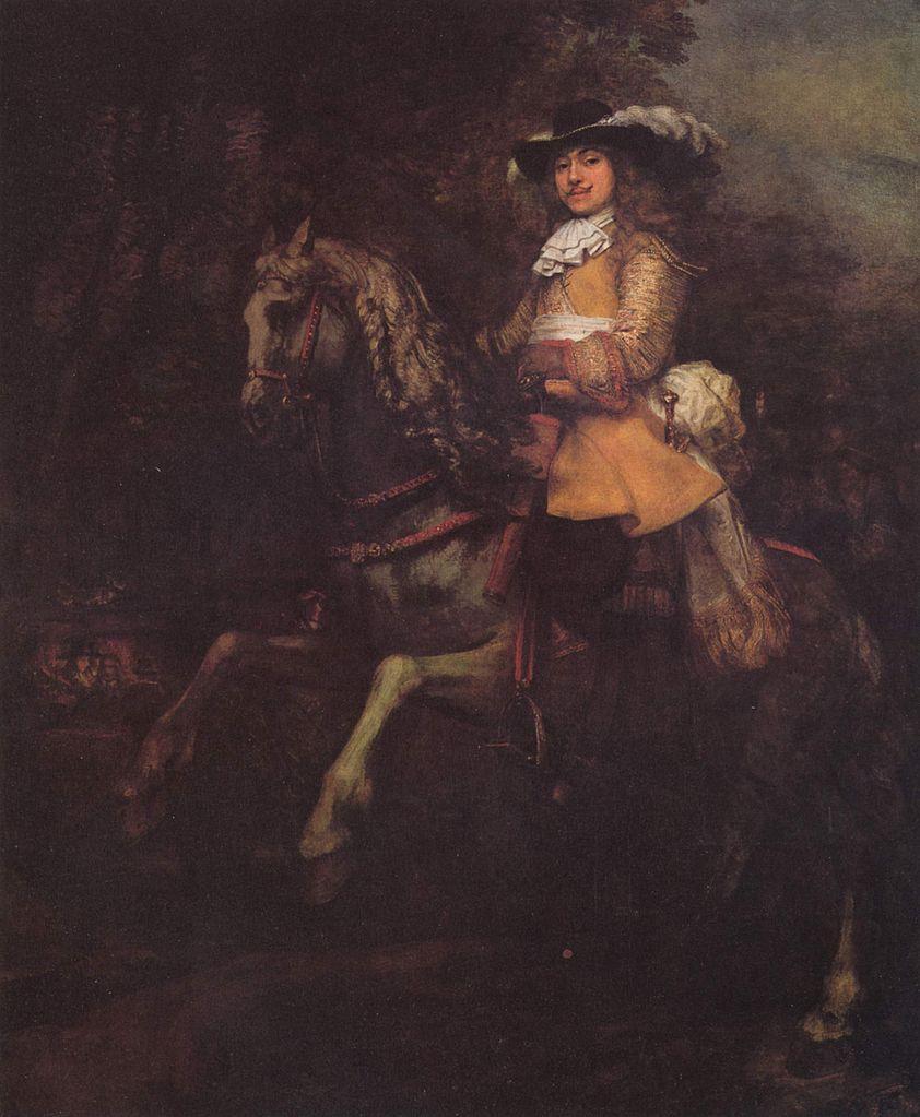 Portrait of Frederick Rihel on Horseback, 1663, Rembrandt, Netherlands