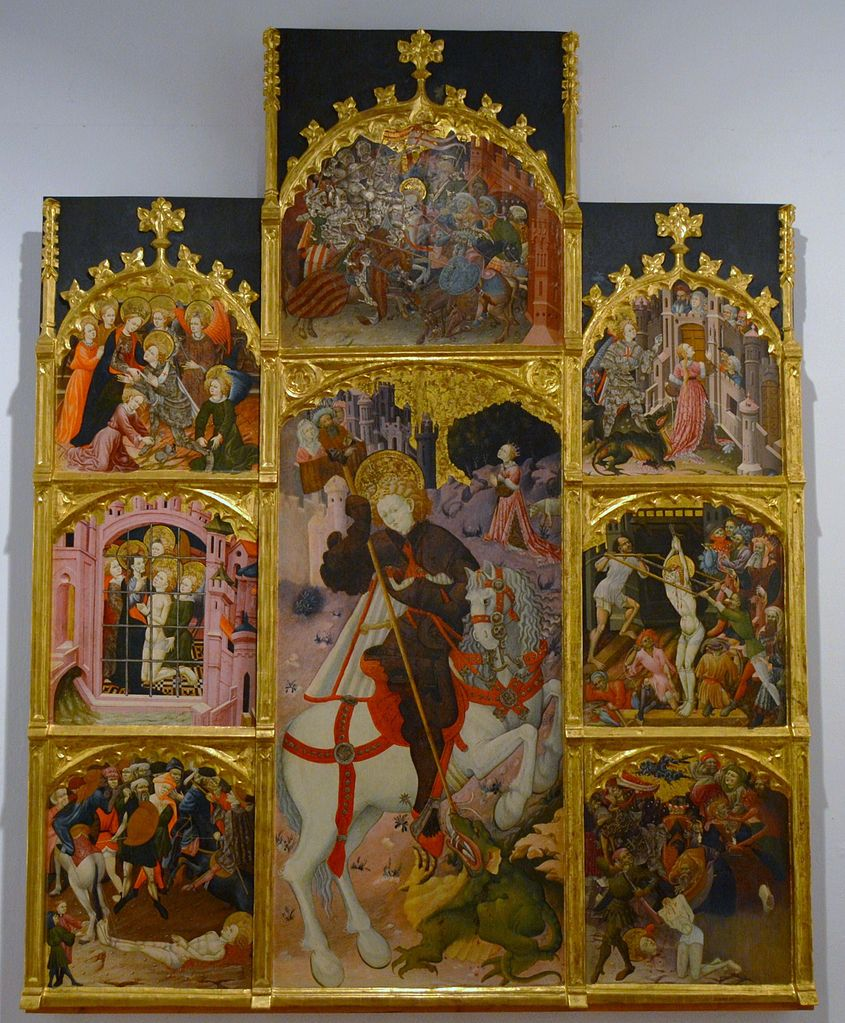 Altarpiece of St. George, 1430-31, Berenguer Mateu, Valencia, Spain