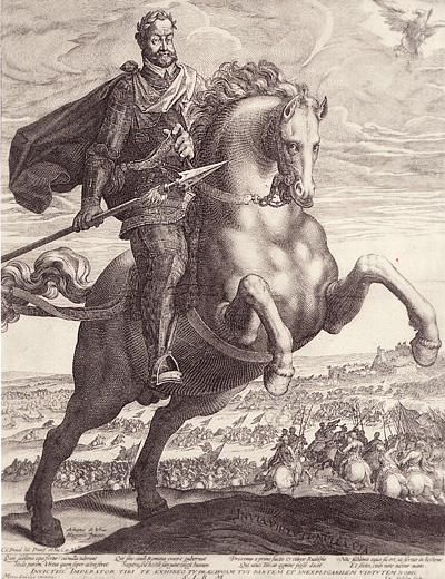 Rudolf II on horseback, 1603, Aegidius Sadeler, Marcus Sadeler and Adriaen de Vries, ?