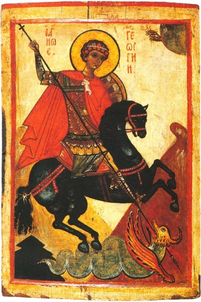 The Miracle of Saint George and the Dragon, mid-14th century, Novgorod, Russia