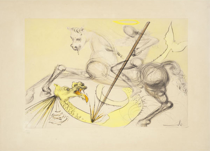 St. George and the Dragon, 1974, Salvador Dalí