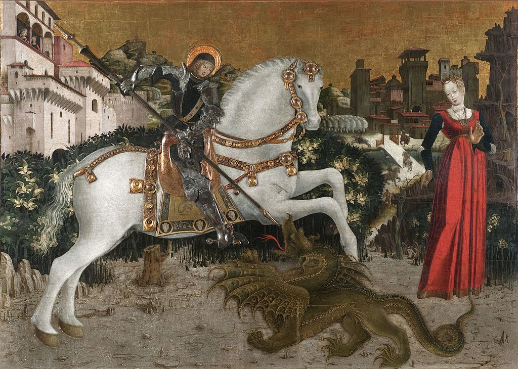 Saint George and The Princess, 1475, Antonio Cicognara, Ferrara (?), Italy