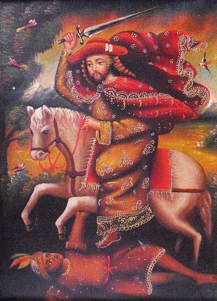 Santiago Mataindios, 1690-1720, Cuzco School, Peru