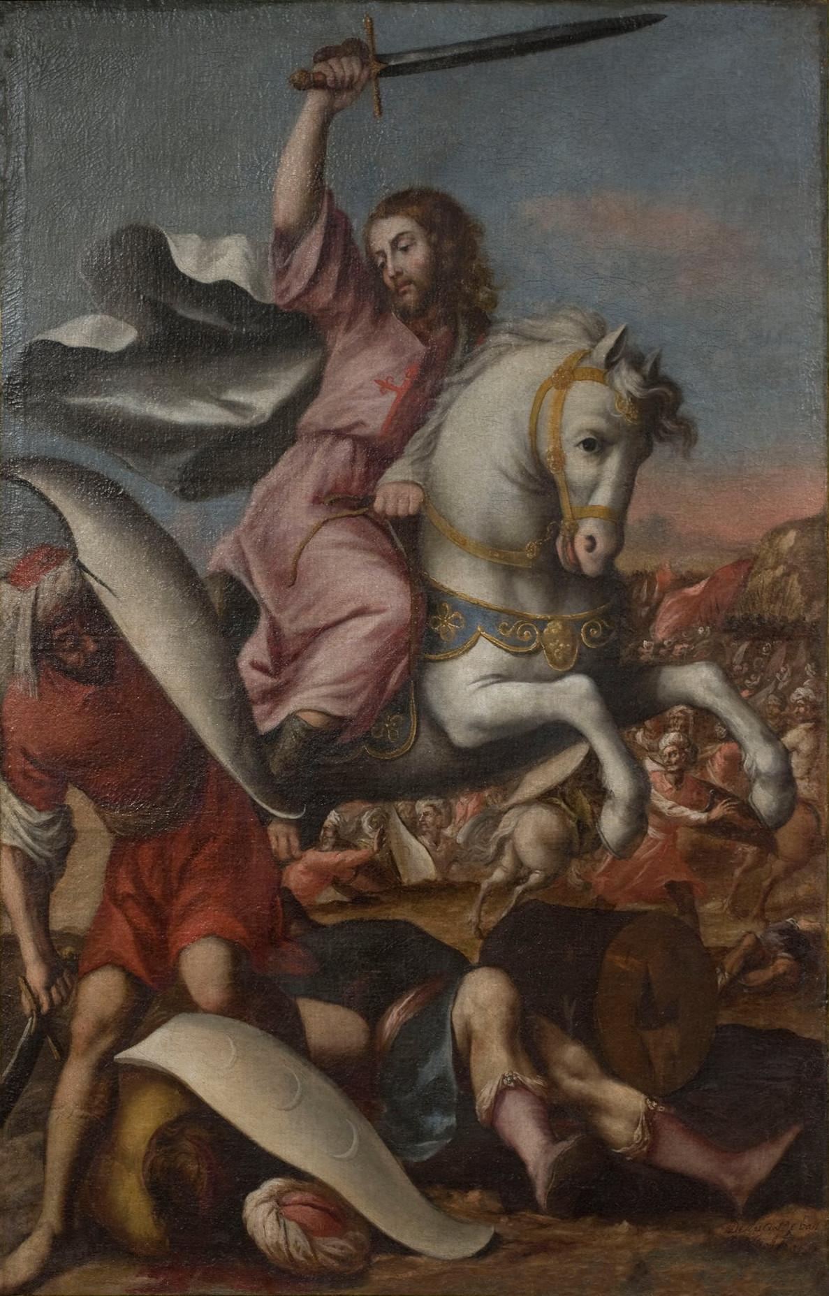 Apostle Santiago fighting the moors, 1690, Lucas de Valdés, Córdoba, Spain