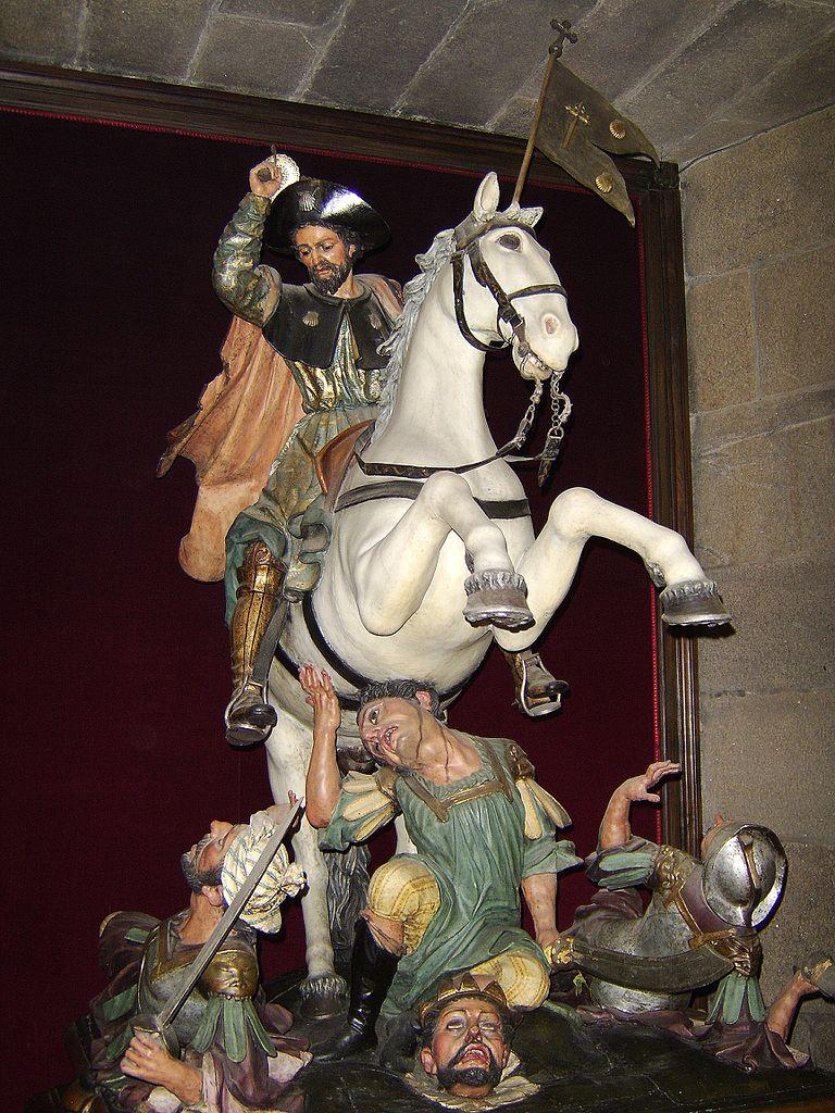 Santiago Matamoros, 18th century, Altarpiece of Santiago de Compostela Cathedral, Spain