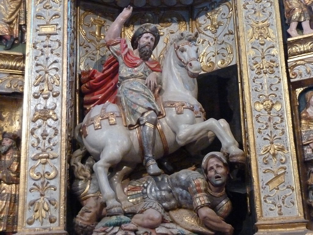 Santiago Matamoros, 16th century, Church of Santa María la Real, Sasamón, Burgos, Castile and León, Spain
