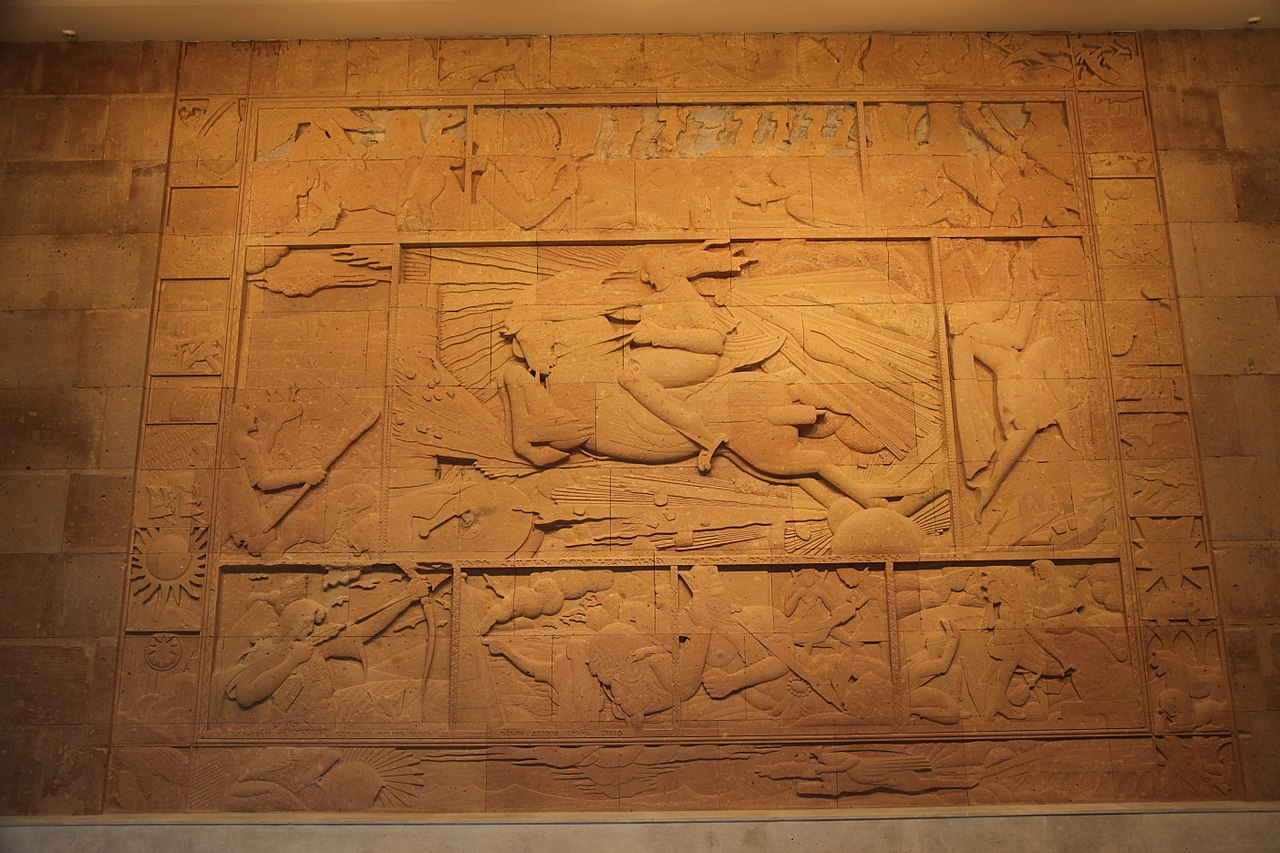 Relief showing David of Sassoun, ?, Artashes Hovsepyan, Cafesjian Center for the Arts, Armenia