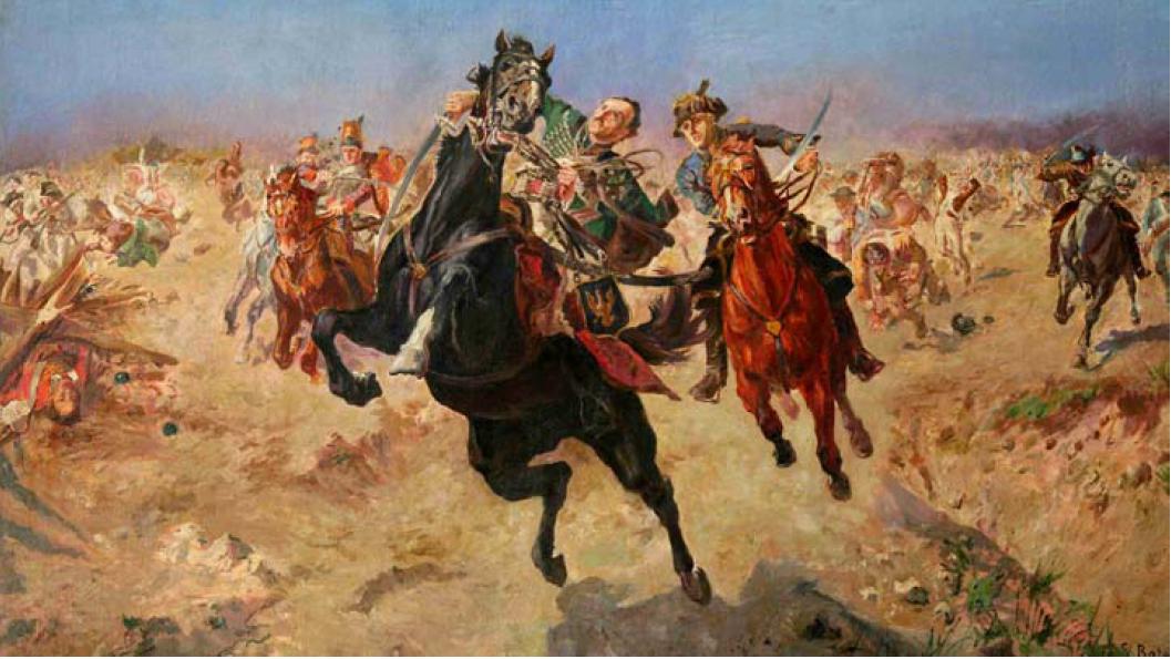 Casimir Pulaski death near savannah, 1933, Stanisław Kaczor-Batowski, Lviv, Ukraine