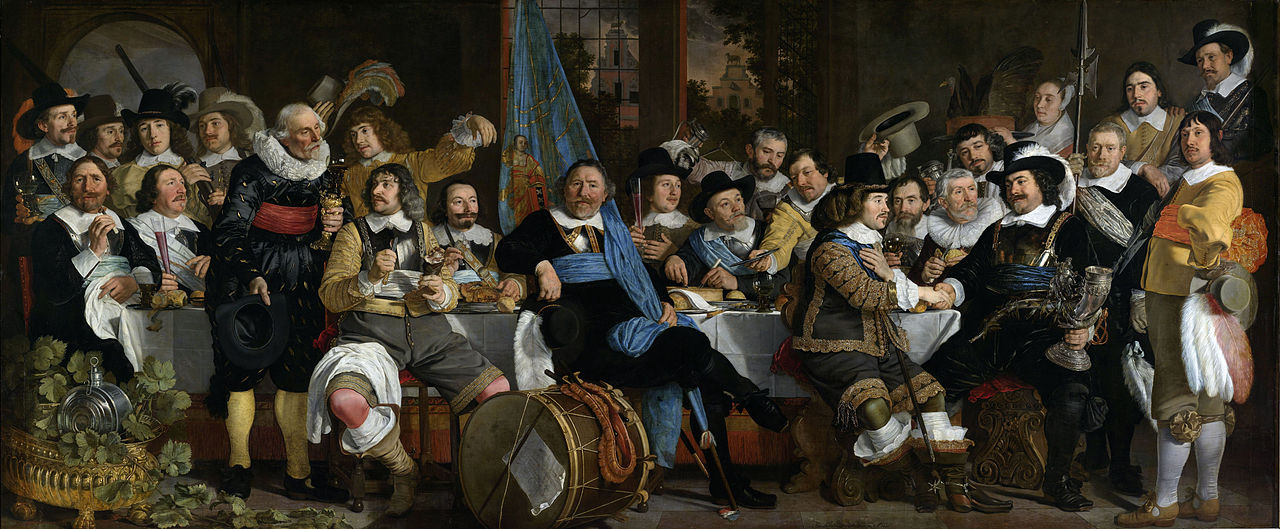 Banquet at the Crossbowmen's Guild in Celebration of the Treaty of Munster, 1648, Bartholomeus van der Helst, Dutch Republic