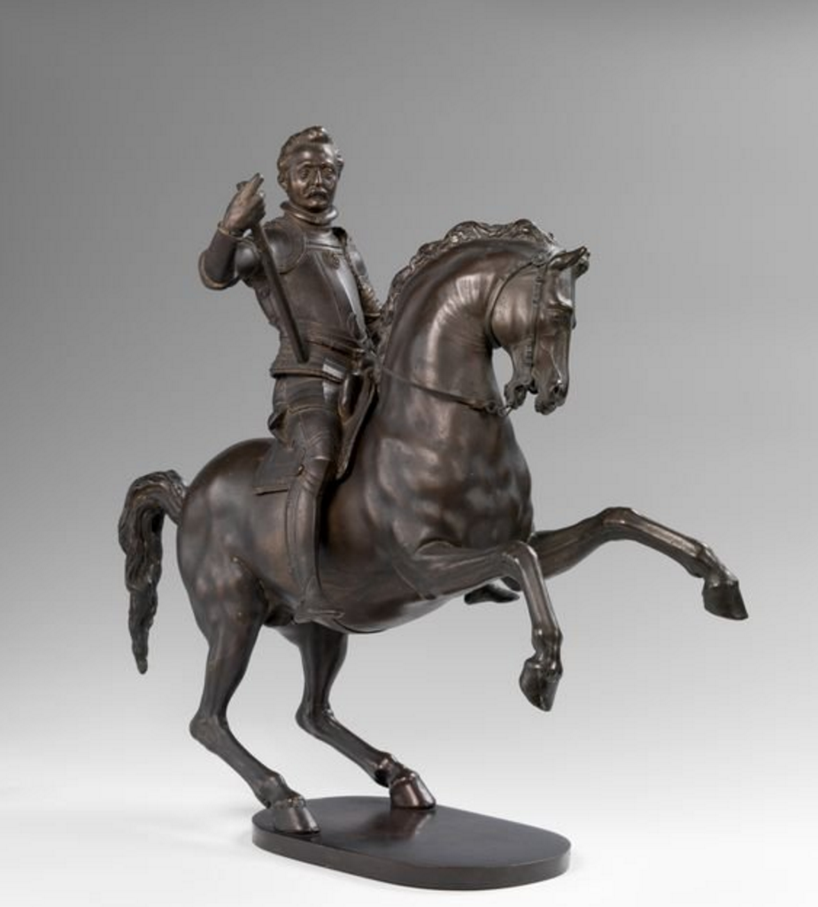 Duke Heinrich Julius of Braunschweig on horseback, 1605, Adriaen de Vries, Prague