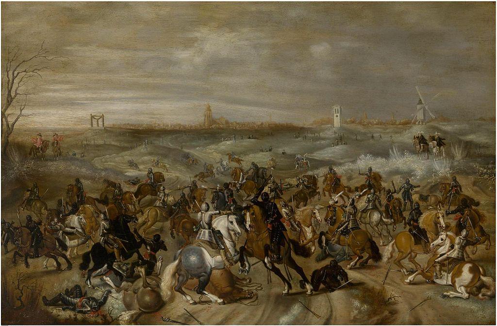 The battle of Leckerbeetje, cr. 1600-47, Sebastiaen Vrancx, Flemish