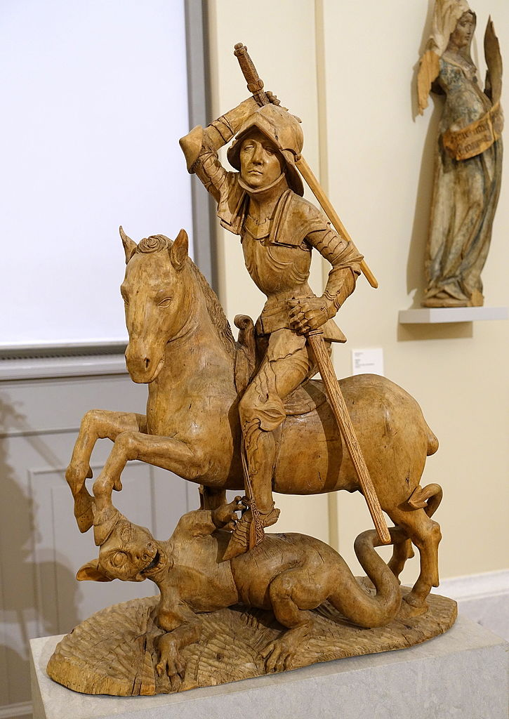 Saint George and the Dragon,c. 1490-1495, Tilman Riemenschneider