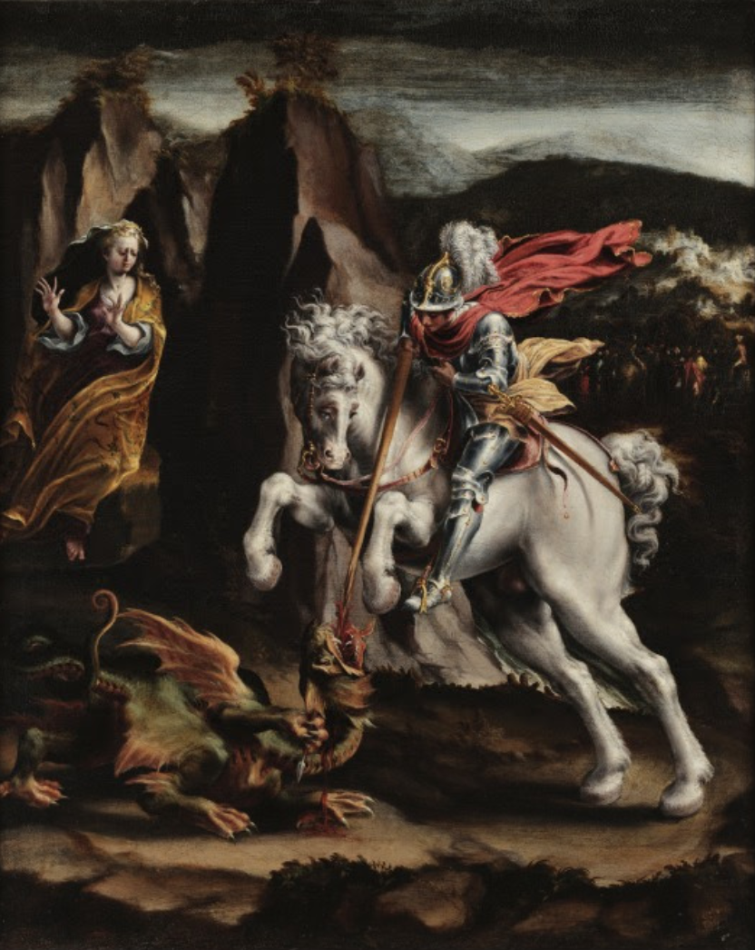 St. George and the Dragon, 1550, Lelio Orsi, Italy