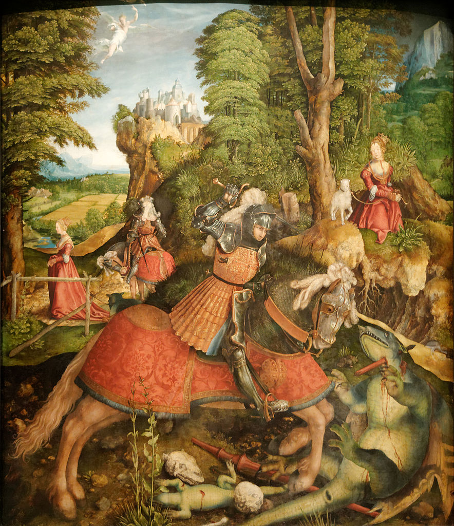 Saint George and the Dragon, cr. 1515, Leonhard Beck, Germany