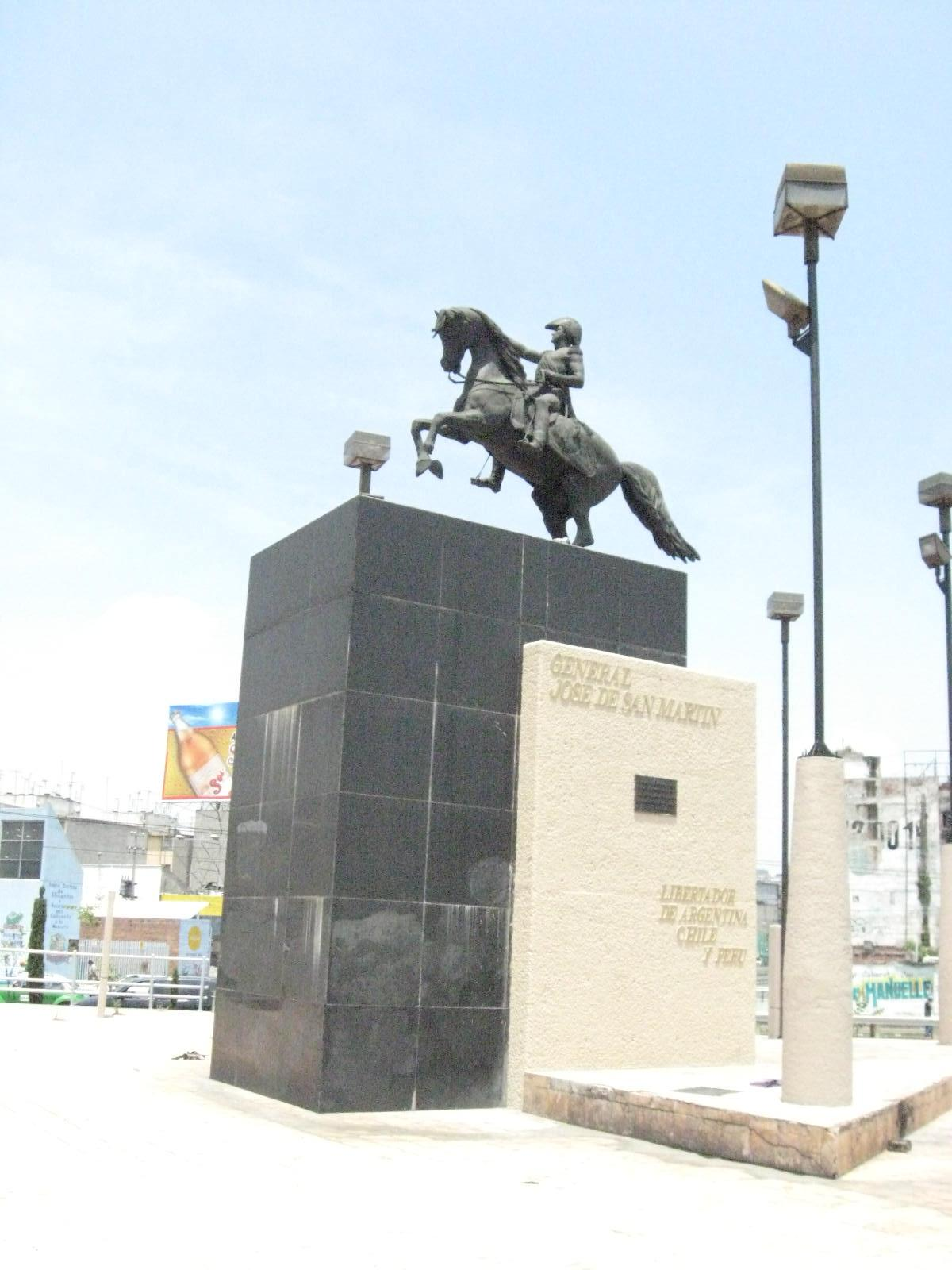 Statue of José de San Martin, 1973, after the statue of Louis Joseph Daumas (1862, Buenos Aires, Argentina), Mexico City, Mexico