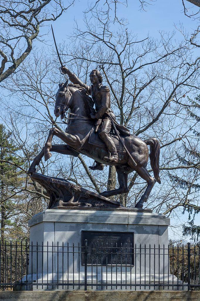 Equestrian statue of Casimir Pulaski in Roger Williams Park, Providence Rhode Island, U.S.A., 1953, Guido Nincheri, Canada