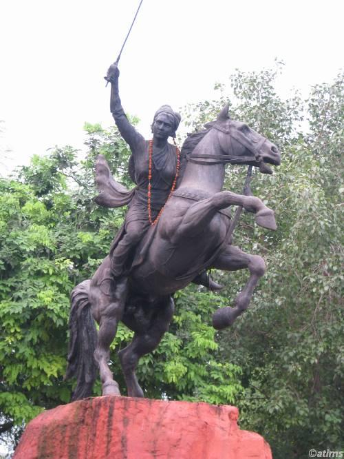 Statue of Rani Lakshmibai, 2006, Jasu Shilpi, Gwalior, India