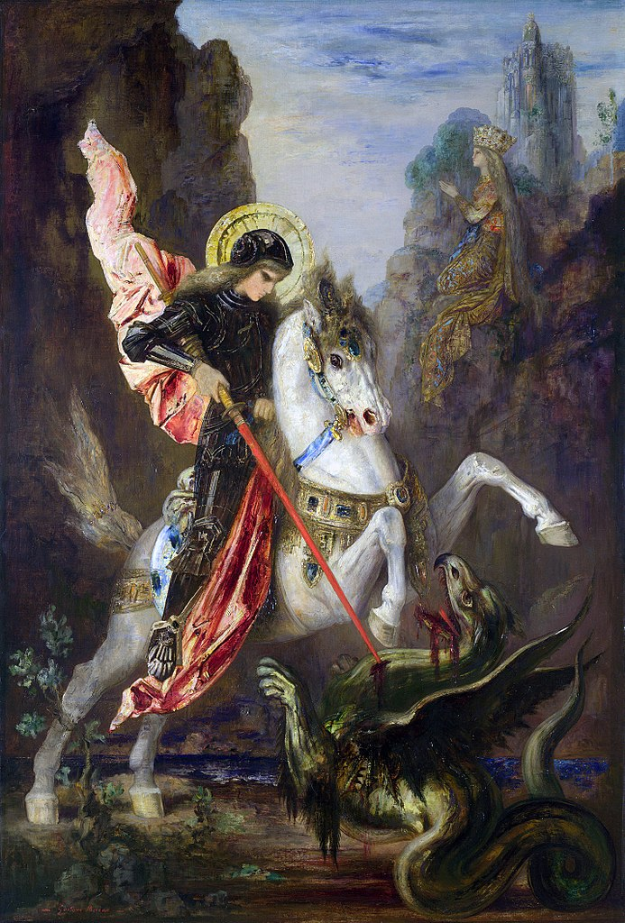 Saint George and the dragon, 1889-90, Gustave Moreau, Paris, France
