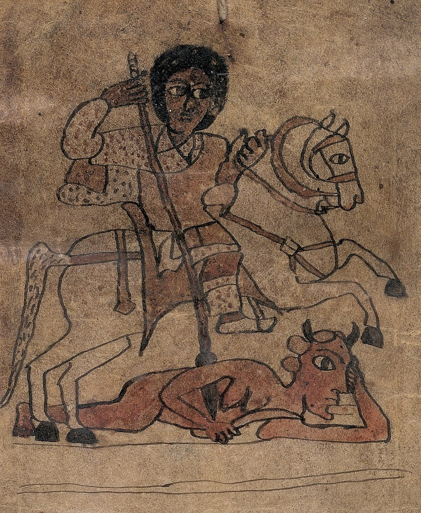 Susenyos I as Saint Sisinios, 17th century or later, Ethiopia