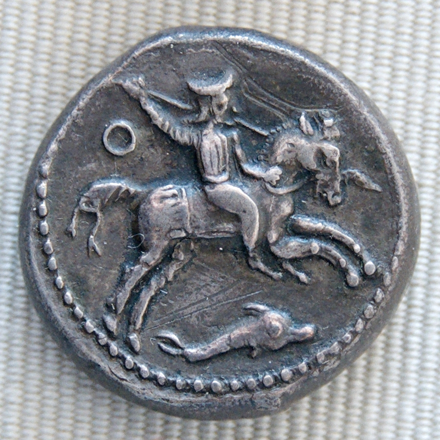 Silver tetradrachm of Evagoras II Salamis of Cyprus with satrap on horseback, 368–346 BC, Cyprus