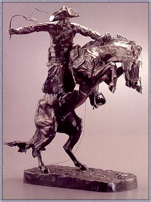 Bronco Buster, an original cast,1895, Frederic Remington