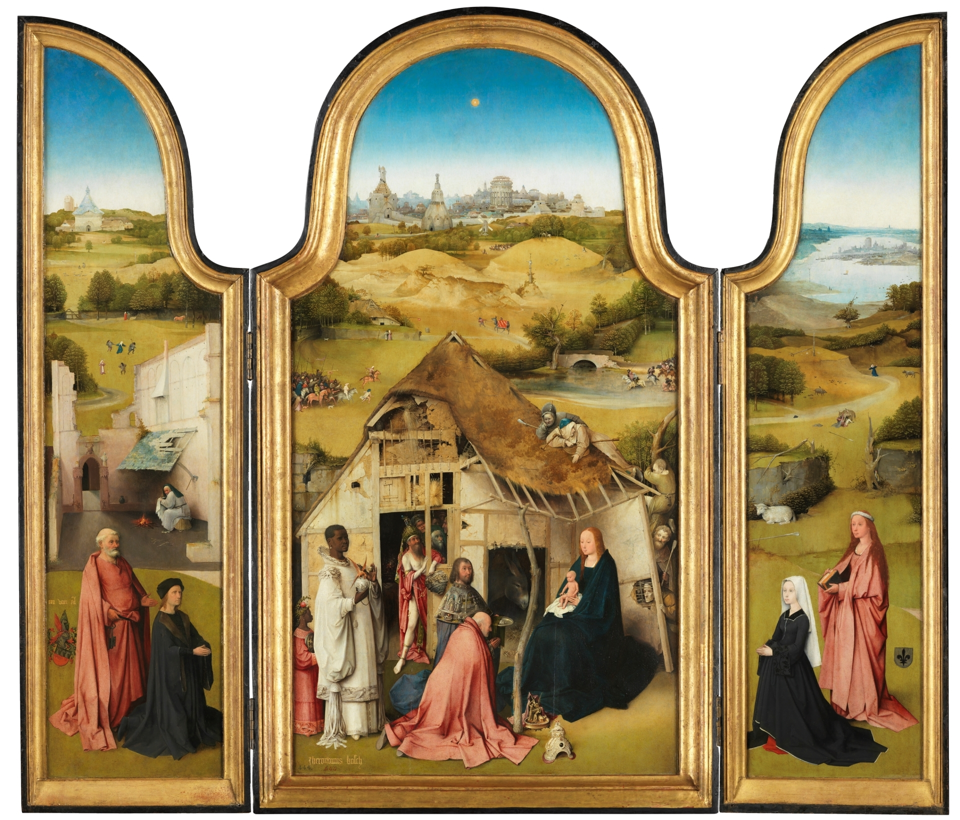 The Adoration of the Magi, cr. 1495, Hieronymus Bosch, Netherlands