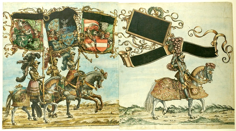 COMPARANDUM: Triumph of Emperor Maximilian I (detail), 1526, Ulg Lis or Hans Burgkmair, Vienna, Holy Roman Empire