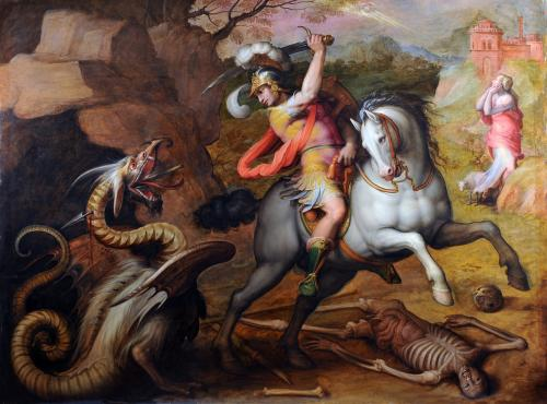 St. George and the Dragon, cr. 1560, Giorgio Vasari, Italy