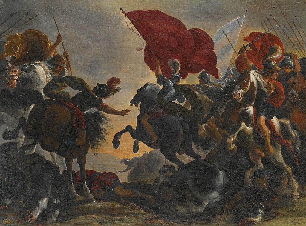 Cavalry battle scene, cr. 1610-1675, Vincent Adriaenssen, Flemish/Italian