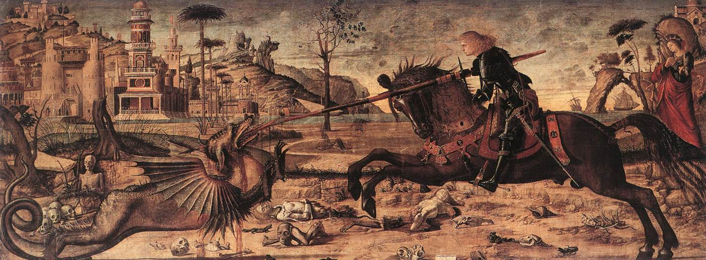 Saint George and the Dragon, 1502, Vittore Carpaccio, Venice, Italy
