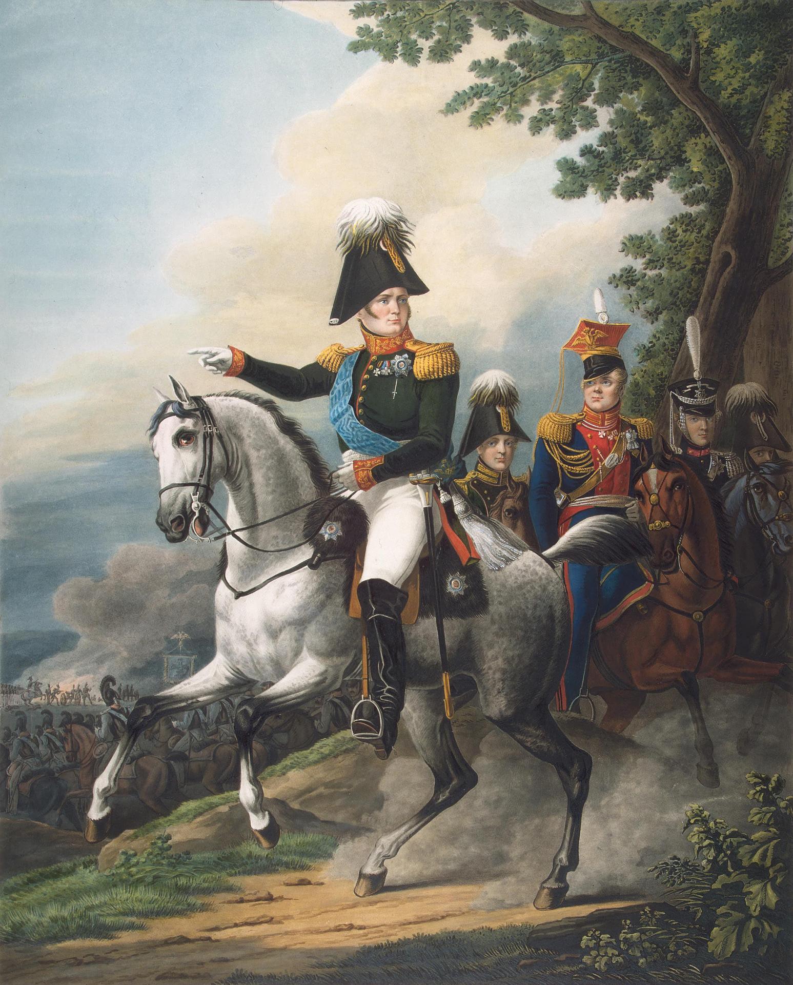 Equestrian Portrait of Emperor Alexander I,1820s, Alexander Osipovich Orlovsky