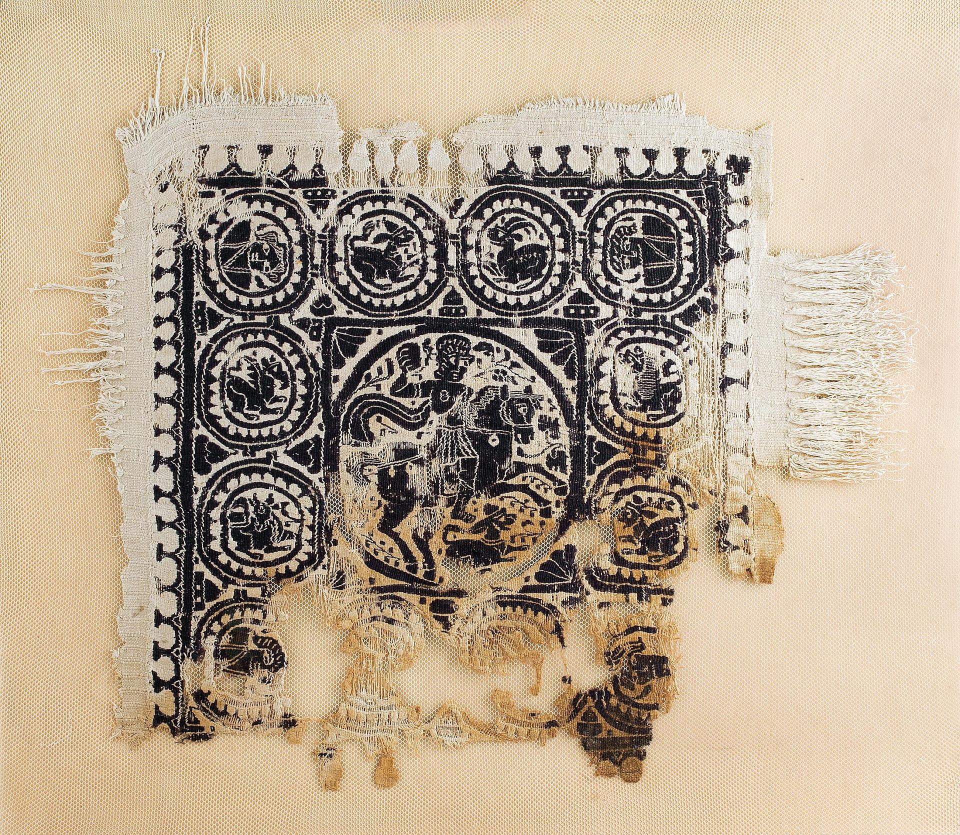 Fabric with the Depiction of an Amazon, 5th century