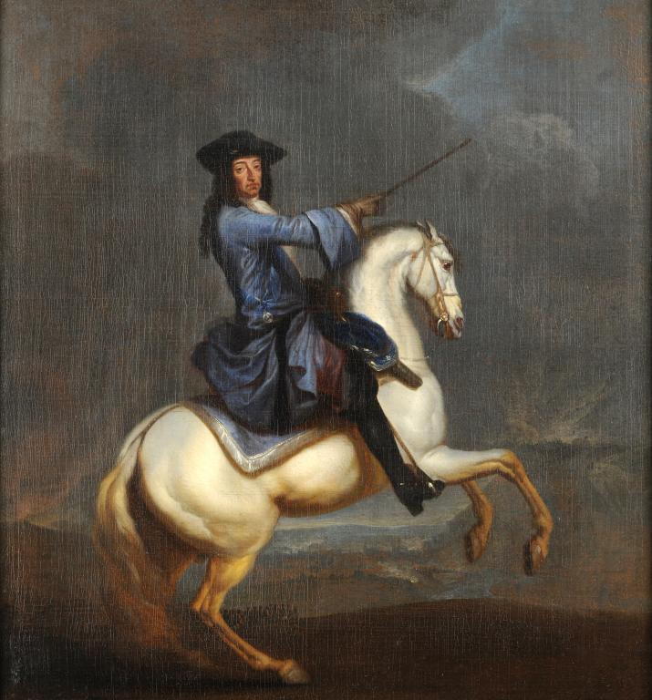 Equestrian portrait of William III at the Battle of the Boyne, 1690-1702, Studio of Jan Wick, England
