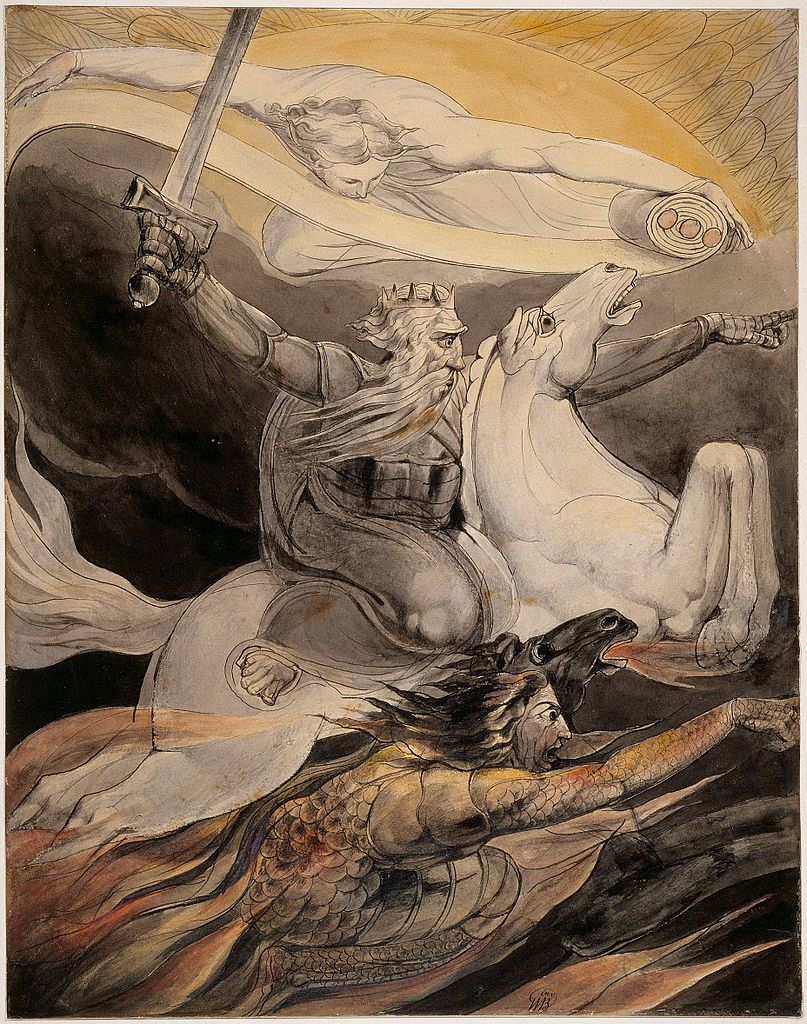 Death on a Pale Horse (Fourth Horseman of the Apocalypse), cr. 1800, William Blake, England