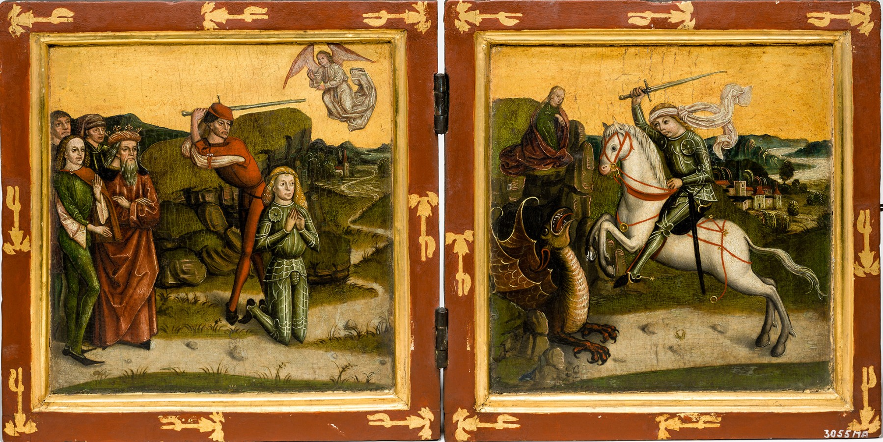 Saint George and the dragon, cr. 1470, southern Germany