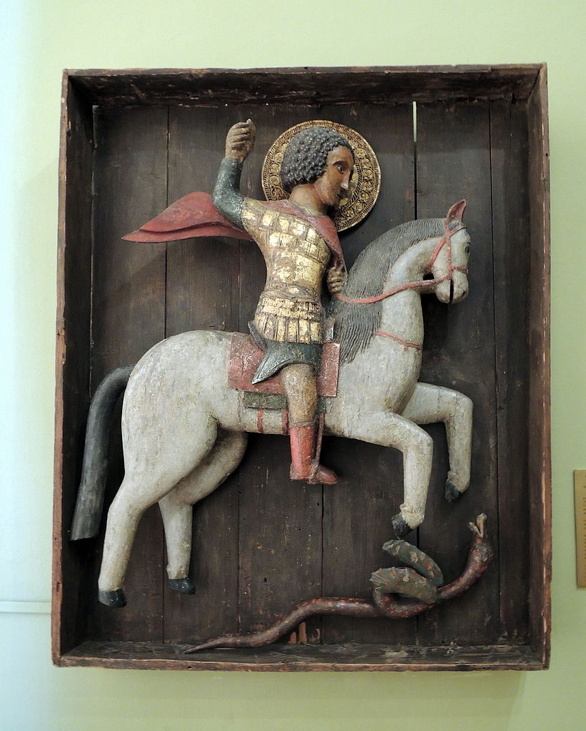 Saint George and the Dragon, second half of the 15th century, Moscow/Rostov, Russia