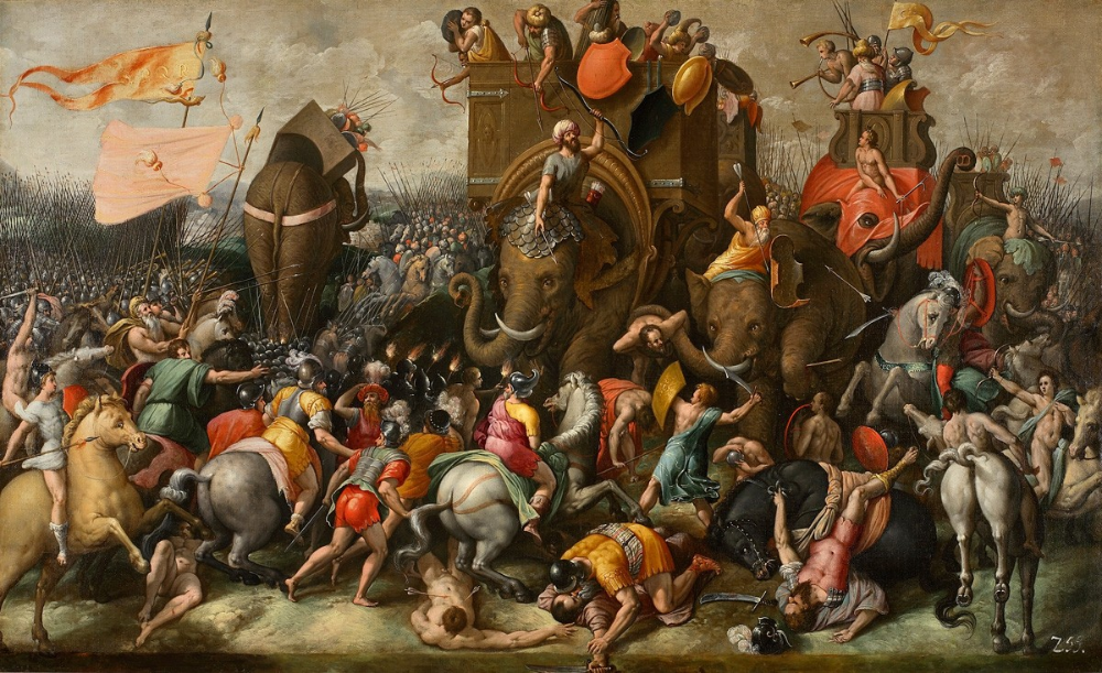 The Battle of Zama (202 BC), last third of the 16th century, Rome, Italy