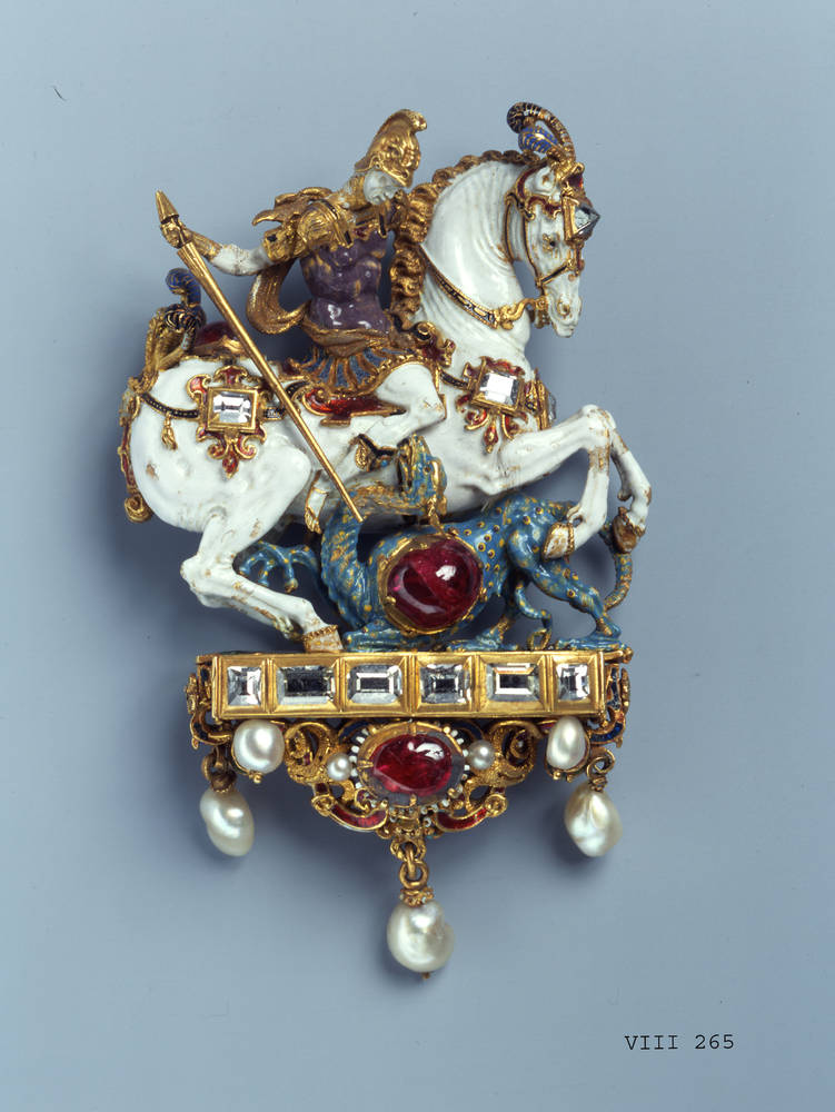 Pendant with Saint George as a dragon slayer, late 16th century, Germany