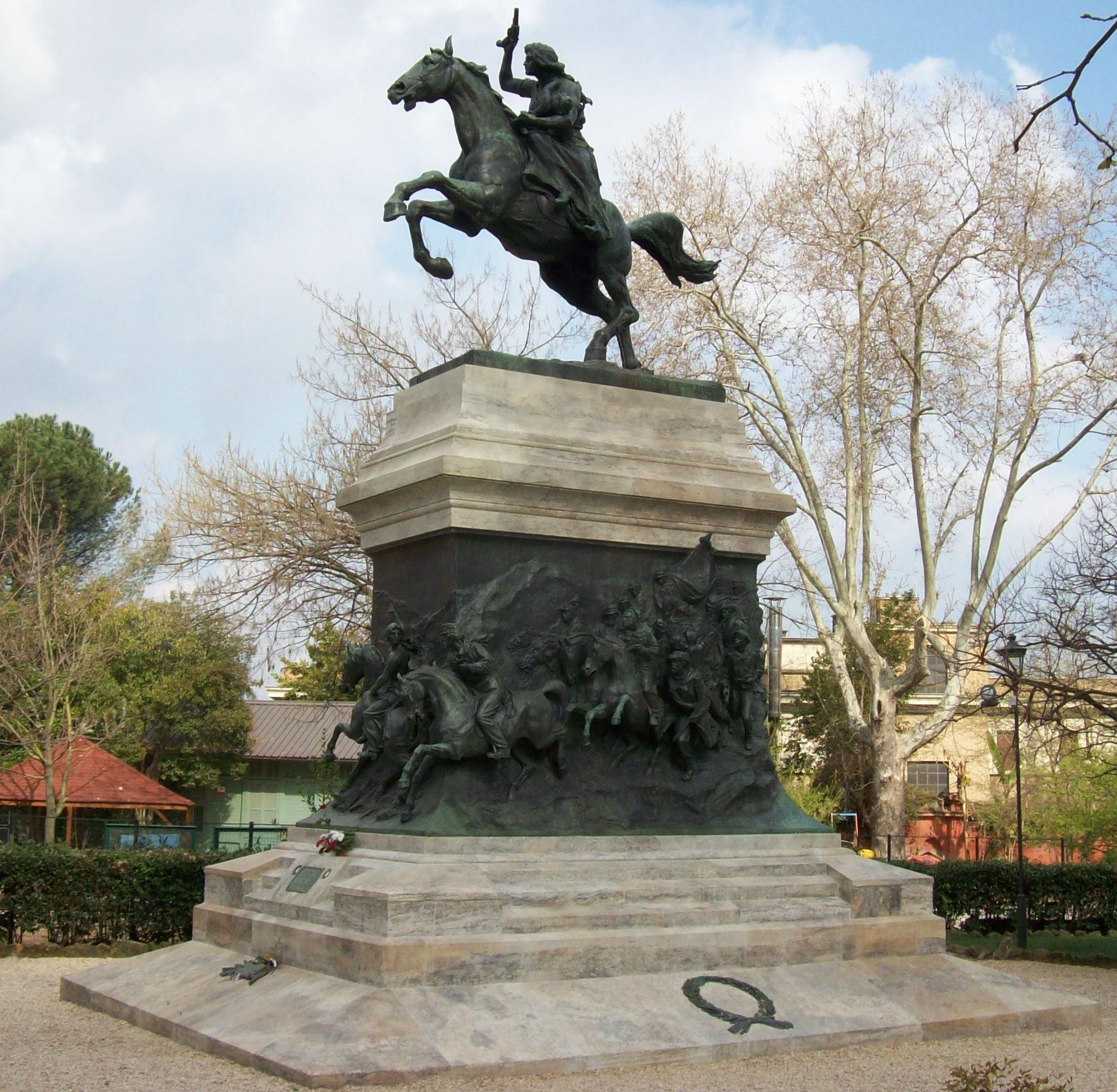 Monument to Anita Garibaldi,1932, Mario Rutelli, Rome, Italy