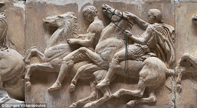 West Frieze of the Parthenon, Block X, 438 BC-432 BC, Athens