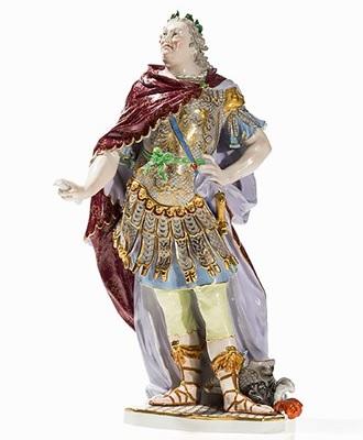 Augustus III porcelain figurine, Meissen, cr.1850