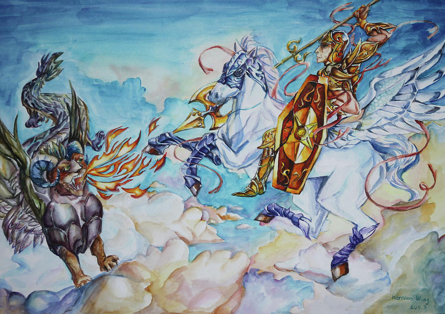 Bellerophon Battles Chimaera, 2011, Hermine Wang, China