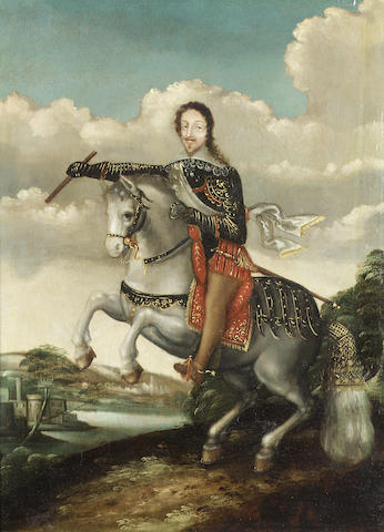 An equestrian portrait of a gentleman, ?, Studio of Claude Déruet