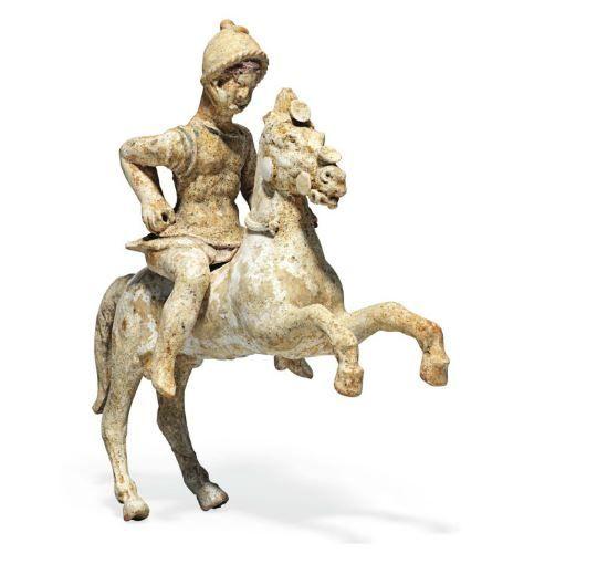Terracotta horse and rider, 3rd century BC, Canosa, Apulia, Italy