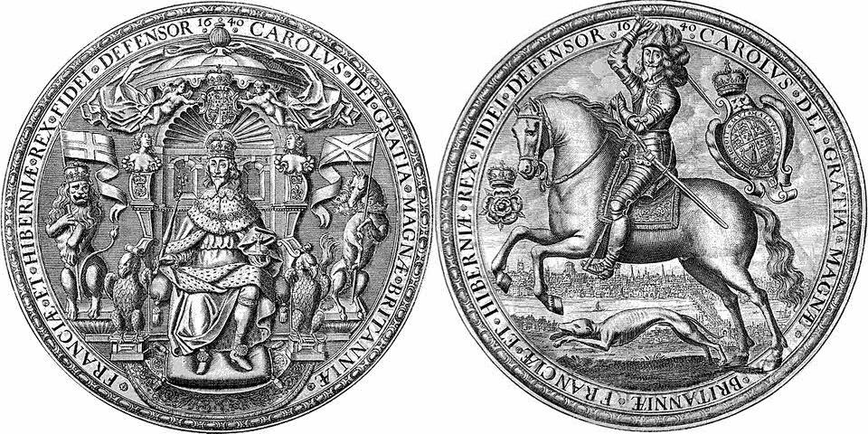 Third seal of Charles I (1640 - May 1646
