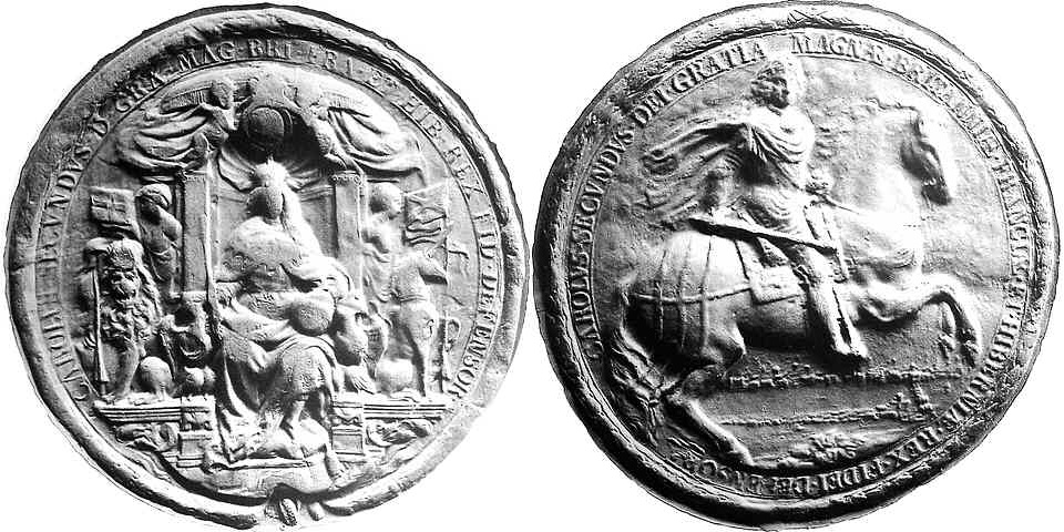 Fourth seal of Charles II (19 April 1672 - 21 Oct 1685)