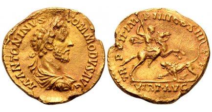Commodus AV Aureus, 181-182, Rome