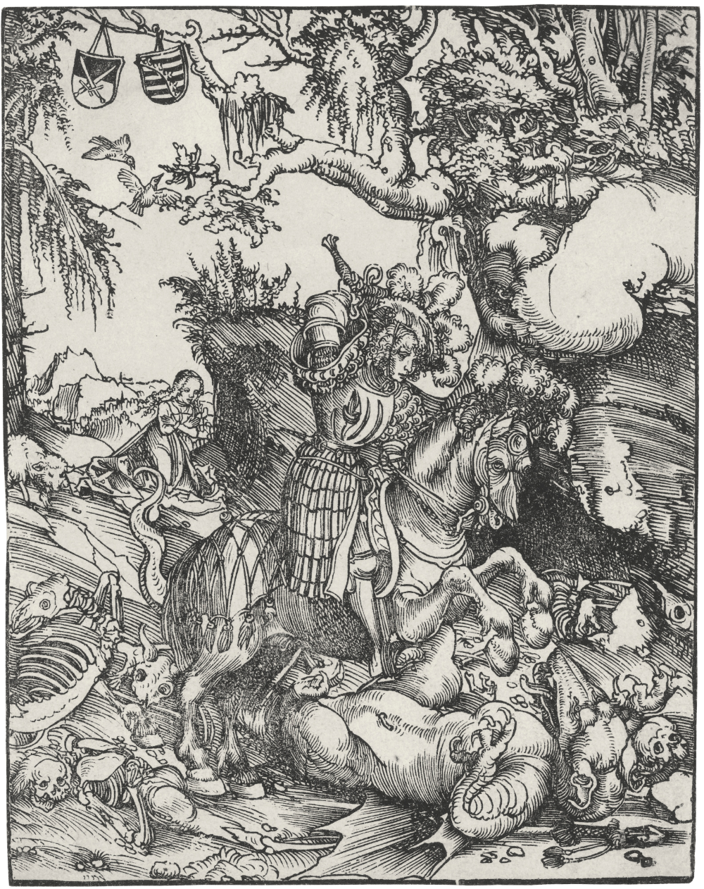 Saint George and the dragon, 1512, Lucas Cranach the Elder, Germany