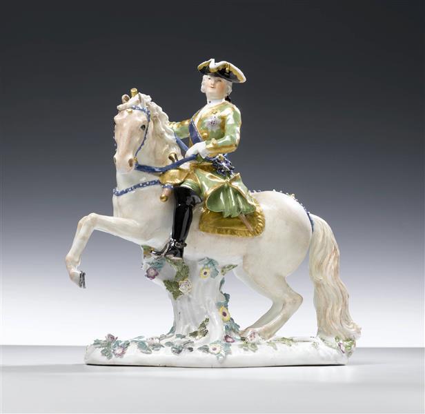 Empress Elisabeth of Russia on Horseback,cr. 1743, Johann Joachim Kaendler, Meissen