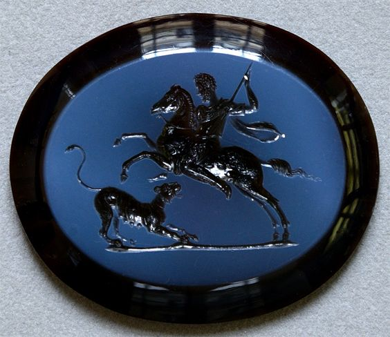 Intaglio 'Emperor Commodus hunting',182-190, Rome